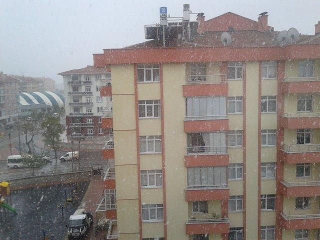 23 Nisan'da Konya'da Kar Manzaraları galerisi resim 1