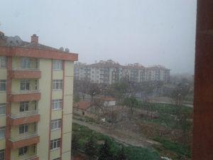 23 Nisan'da Konya'da Kar Manzaraları