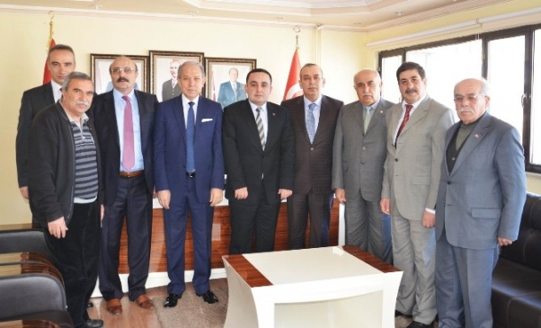 Esnaflardan MHP Konya İl Başkanlığına taziye ziyareti