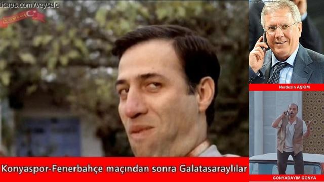 Fenerbahçe Konya'da 2  puan bıraktı, Capslar coştu