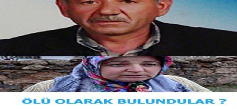 Kayıp Yaşlı Çift ölü bulundu