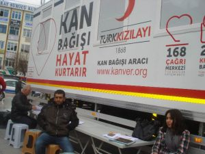 Kızılay Kan Toplama Aracı Aksaray'da