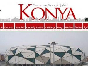 Konya Büyükşehirin web sitesi zirvede