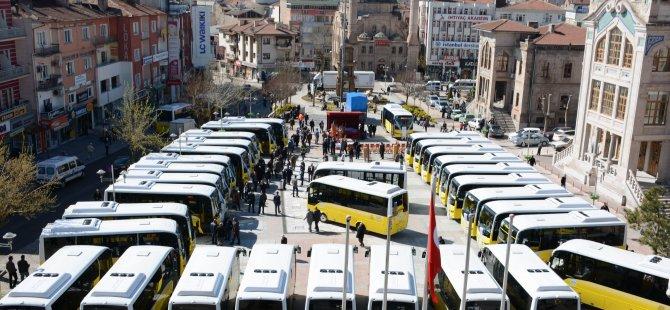 Aksaray'da toplu ulaşımda yeni dönem başladı