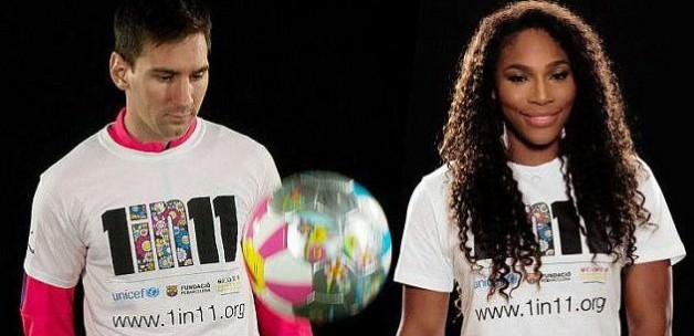 Messi ile Williams'dan eğitime destek