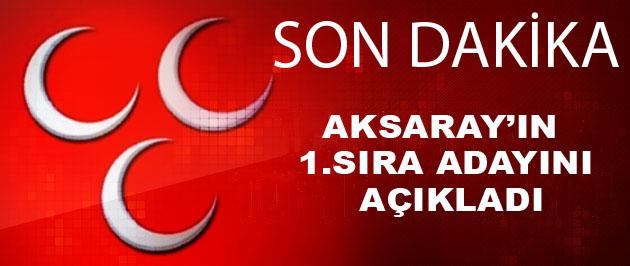 MHP'de  Aksaray'ın 1.sıra adayı o isim mi?