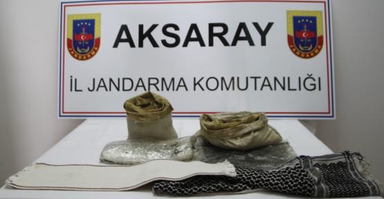 Aksaray'da 2 Kğ toz esrar yakalandı