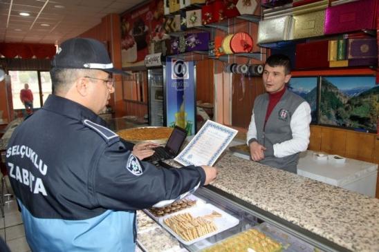 Selçuklu'da Hafta Tatili Ruhsat Denetimleri Sürüyor