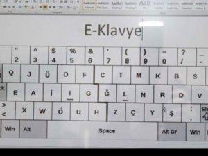 Türkçeye uygun yeni klavye: E klavye!