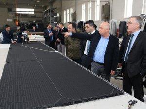 Vali Ataklı'dan OSB'deki fabrikalara zyaret