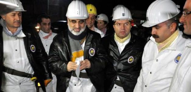 Yıldız'dan maden ocağına yılbaşı ziyareti