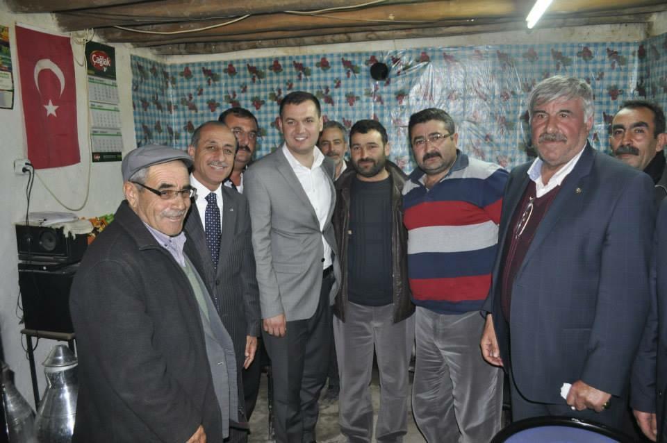 MHP adayı Turan YALDIR Eskil'i Ziyareti etti