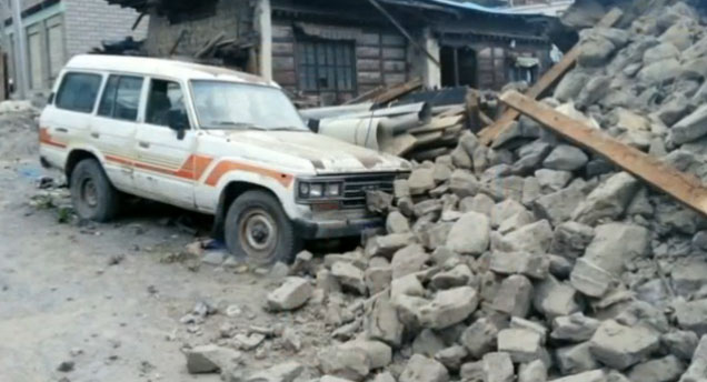 Nepal'de Büyük deprem! Çok sayıda ölü var
