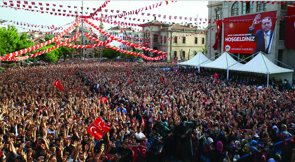 Aksaray Cumhurbaşkanı'nı coşkuyla karşıladı