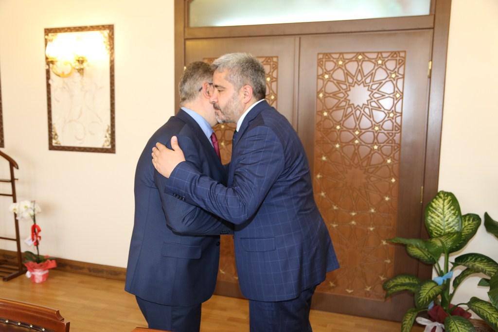 Vali Aykut Pekmez'e ziyaretler devam ediyor.