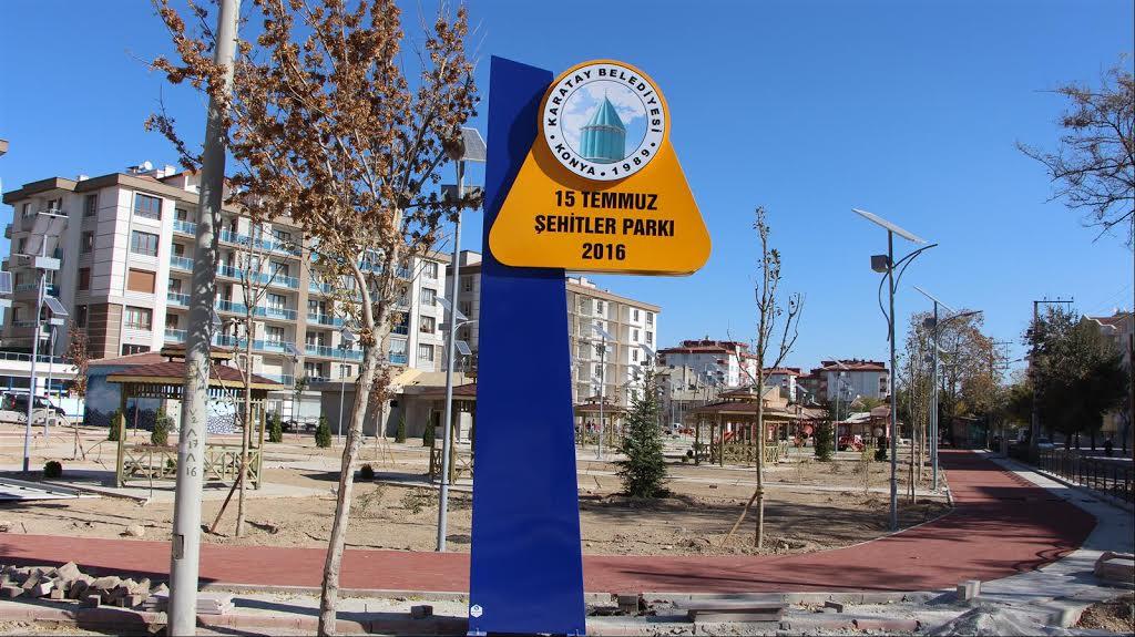 Karatay Belediyesinden 15 Temmuz Şehitler Parkı