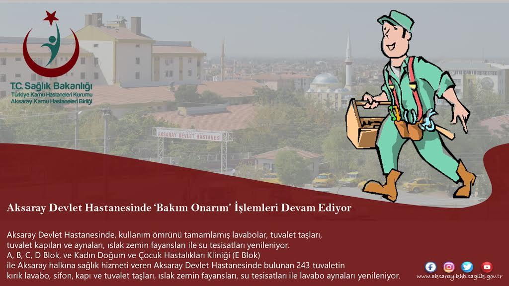 Aksaray Devlet Hastanesinde Yenilikler Son Sürat