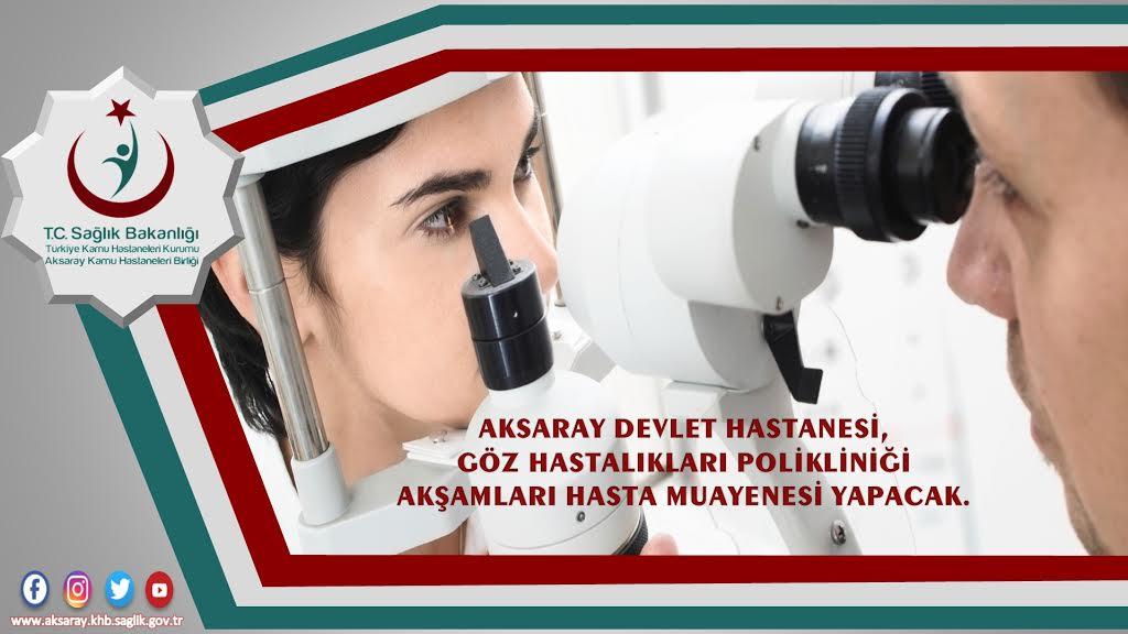 ADH'de Göz doktorları akşamda çalışacak