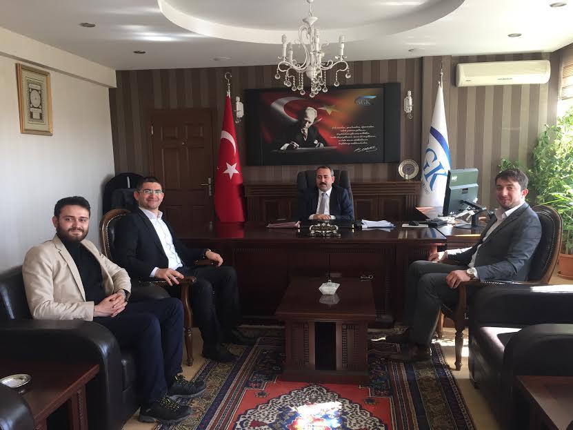 Fizyomet Sağlıklı Yaşam Merkezi Ekibinden SGK İl Müdürü Bilal Akgün'e Nezaket Ziyareti