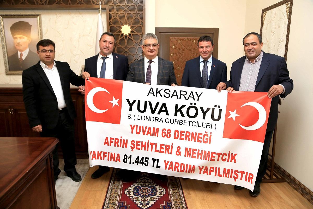 Yuva Köyü ve İngiltere'de yaşayan gurbetçilerden Mehmetçiğe destek