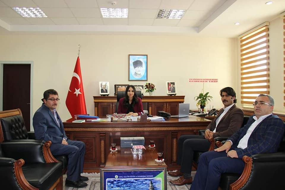 Eskilder Yönetiminden, Kaymakam Karaalioğlu'na ziyaret!