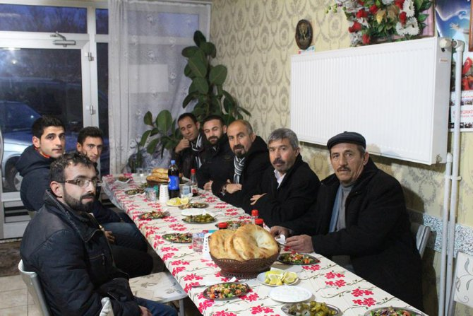 Eskil Merkez Mahallesi Muhtar Adayı İsmail Meral gazetecileri ağırladı