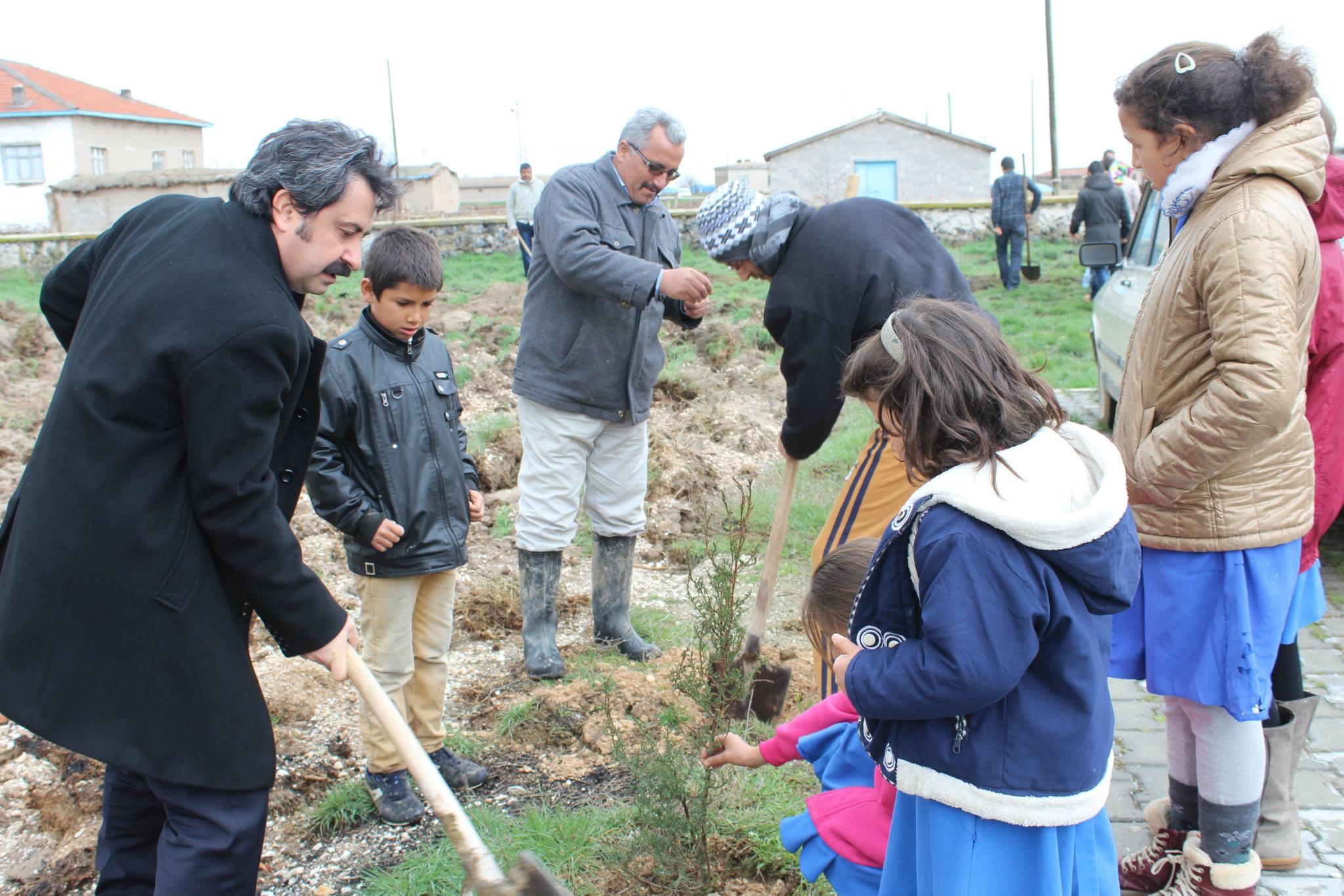 Darıhüyük Köyü İlkokulu'nda İmece Ruhu Canlanıyor