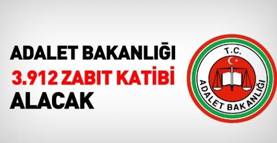 Adalet Bakanlığı 3 bin 912 zabıt katibi alacak