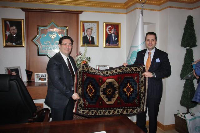 Dr. Fatih Erbakan'dan Başkan Yazgı'ya ziyaret