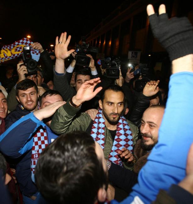Erkan Zengin'e Trabzon'da coşkulu karşılama