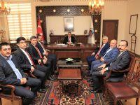 Sağlık-Sen Genel Başkanı Metin Memiş Vali Aykut Pekmez'i ziyaret etti