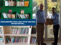 Eskilder Öncülüğünde Katrancı Köyü Okuluna Kitap Desteği!